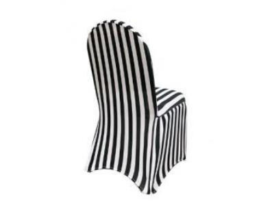 striped chair cover